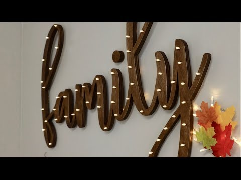 How to Make a DIY Word Light Sign Out of Wood - FULL TUTORIAL - Thrift Diving