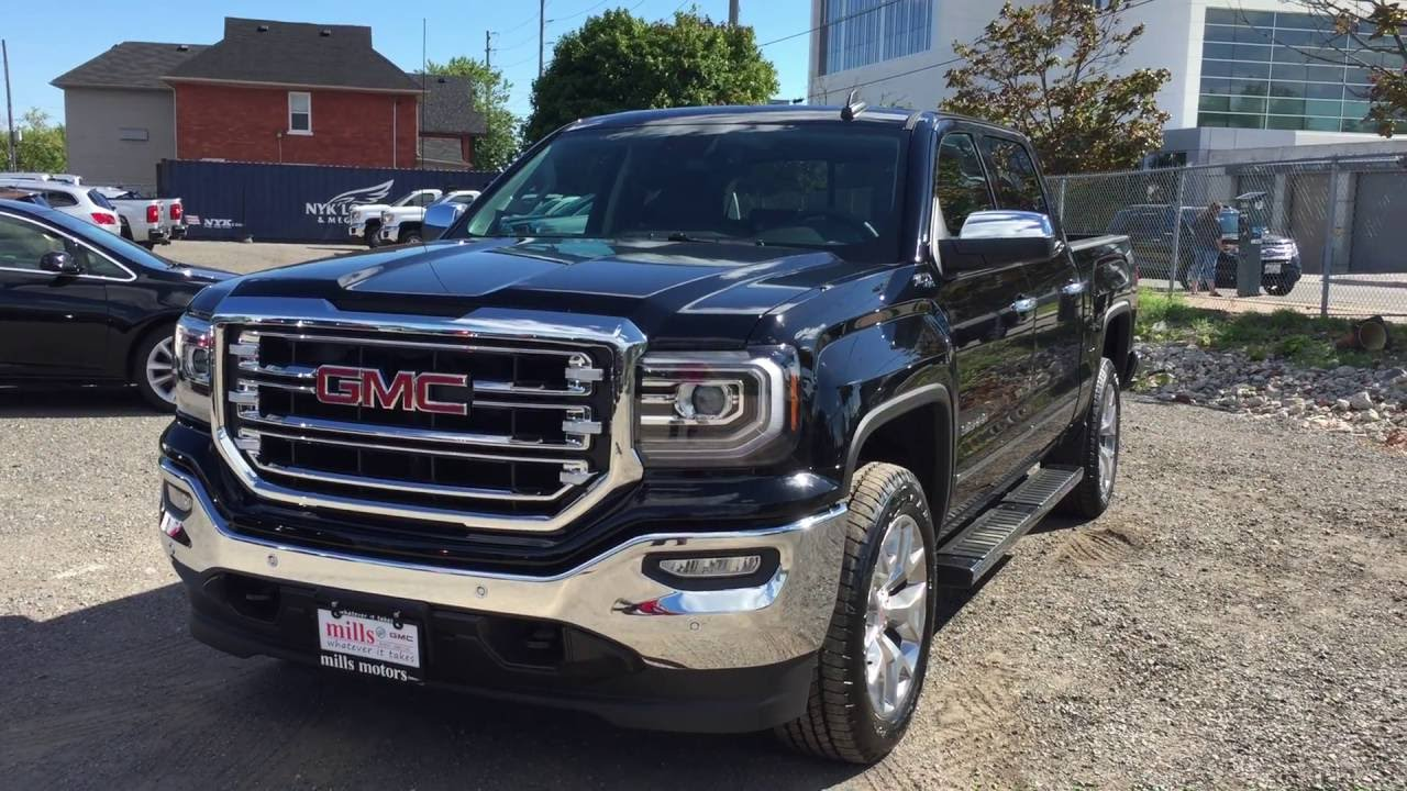 2017 gmc sierra 1500 slt z71 4wd crew cab sunroof black. Black Bedroom Furniture Sets. Home Design Ideas