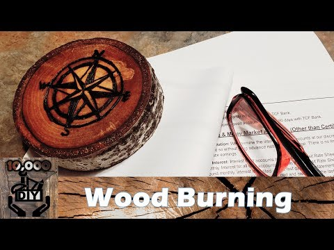 Wood Burning (Pyrography) Compass Pattern DIY  - Testing Cheap Wood burning tool from Amazon