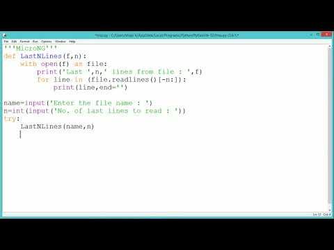 Python Program - Read Last N lines