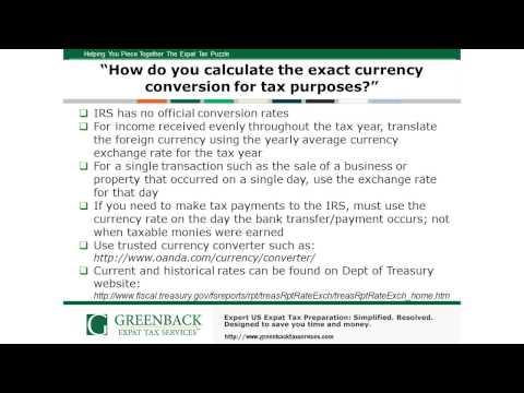 Ask the Experts:  A US Expat Tax Q&A