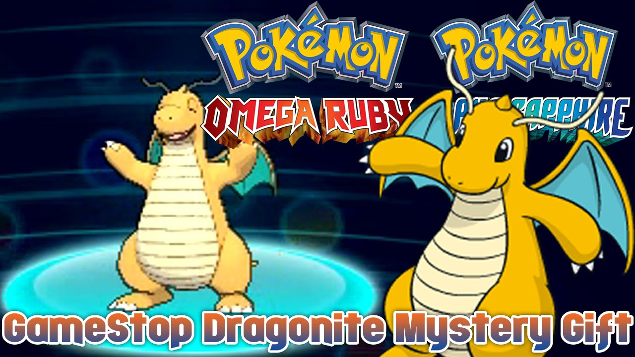 Pokémon Omega Ruby & Alpha Sapphire - GameStop Dragonite Mystery ...
