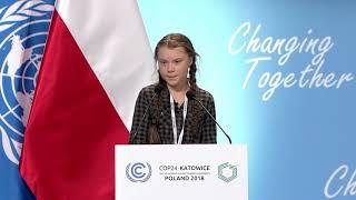 UN COP24 - Discurso de Greta Thunberg (com legendas)
