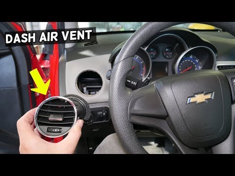 CHEVROLET CRUZE LEFT DRIVER DASH AIR VENT REMOVAL REPLACEMENT. CHEVY CRUZE RIGHT AIR VENT