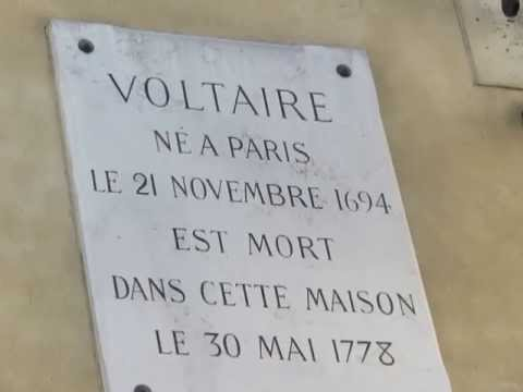 video clip - the house where voltaire died also quai voltaire - paris - sidneysealine