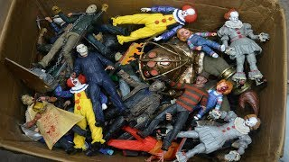 MASSIVE BOX FULL OF HORROR ACTION FIGURES