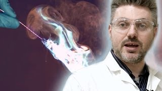 Blue Flame Thrower - Periodic Table of Videos