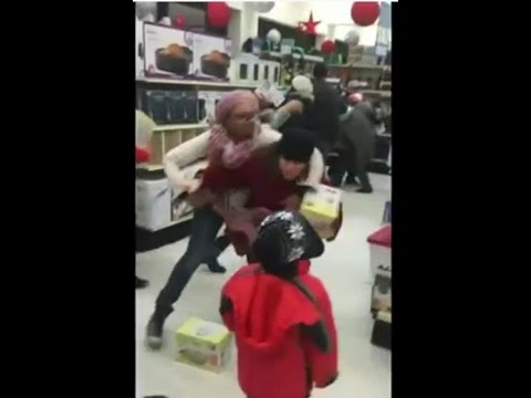 Woman Steals Black Friday Deal From Child - Capitalism in America