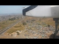 South African Express Dash 8-400 Port Elizabeth-Cape Town Safety, Takeoff, Inflight, Landing
