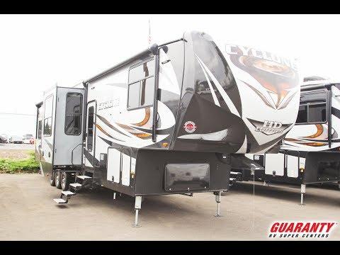 2018-heartland-cyclone-4005-toy-hauler-fifth-wheel-video-tour-•-guaranty.com
