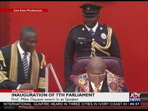 INAUGURATION OF 7TH PARLIAMENT ACCRA