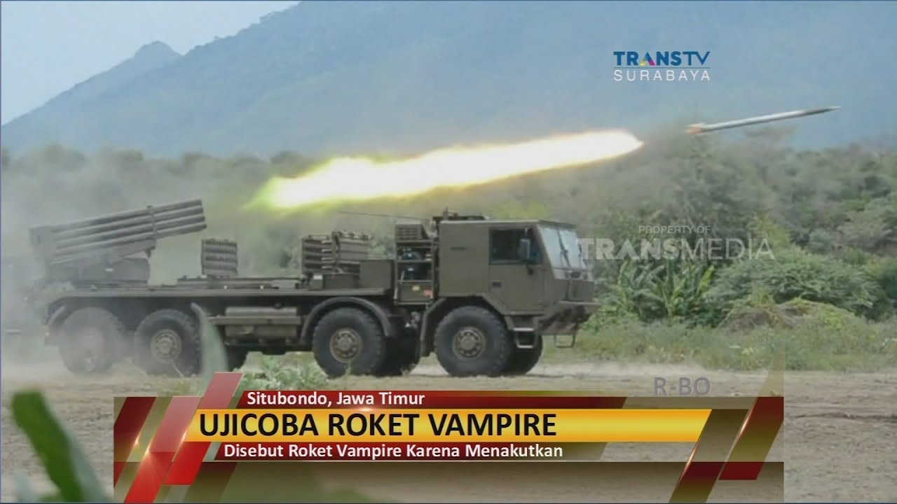 Tni Angkatan Laut Uji Coba Roket Vampire Youtube