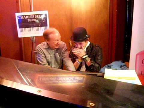 Jackson Rathbone (Twilight) playing harmonica with Charles Segal