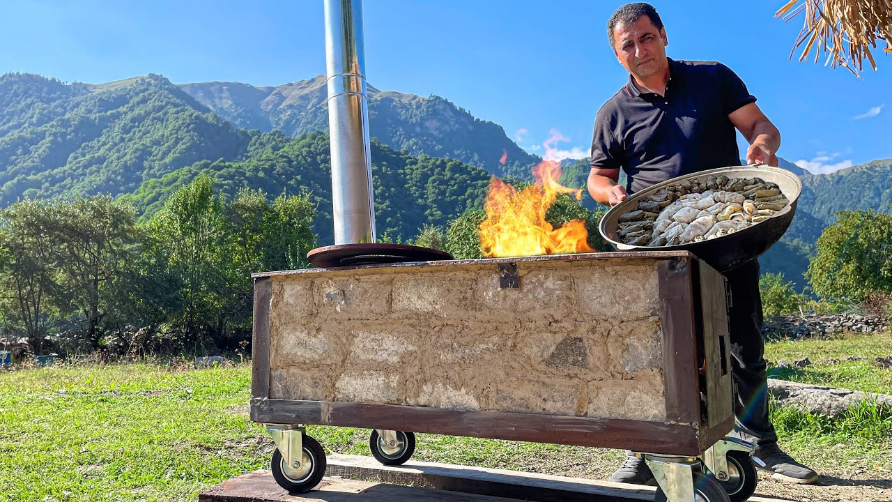 I built an Oven on Wheels Specifically for this Recipe! Relaxing video