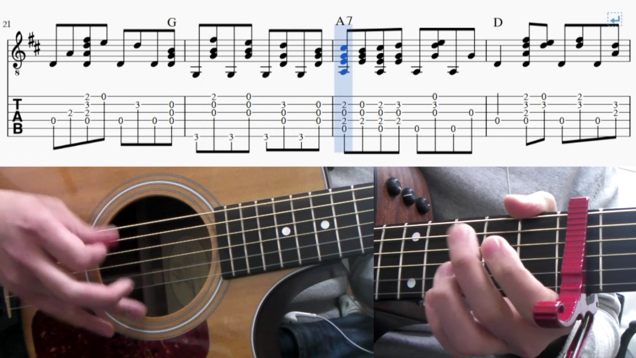 how to play here comes the sun guitar