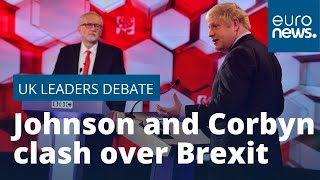 UK leaders' deabte: Boris Johnson and Jeremy Corbyn clash over Brexit, security and fake news