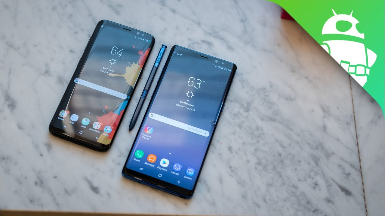 samsung galaxy note 8 vs galaxy s8 - quick look