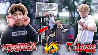 "CRAZY GAME OF MINI HOOP ""D.U.N.K\"" vs TRISTAN JASS!!😱🔥   *HILARIOUS*🤣"
