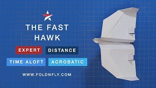Fold 'N Fly ✈ The Fast Hawk Paper Airplane