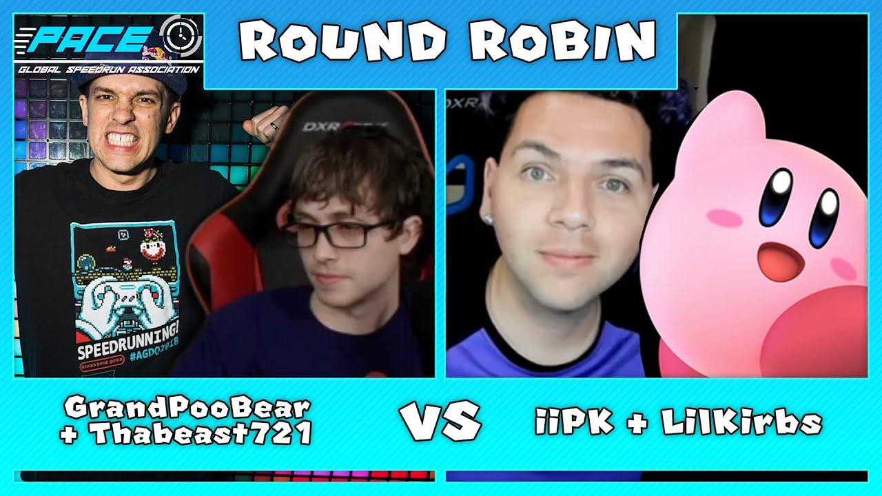 Thabeast721 / GrandPoobear vs iPK / LilKirbs |Round Robin| GSA SMM2 2v2 Relay Speedrun Invitational