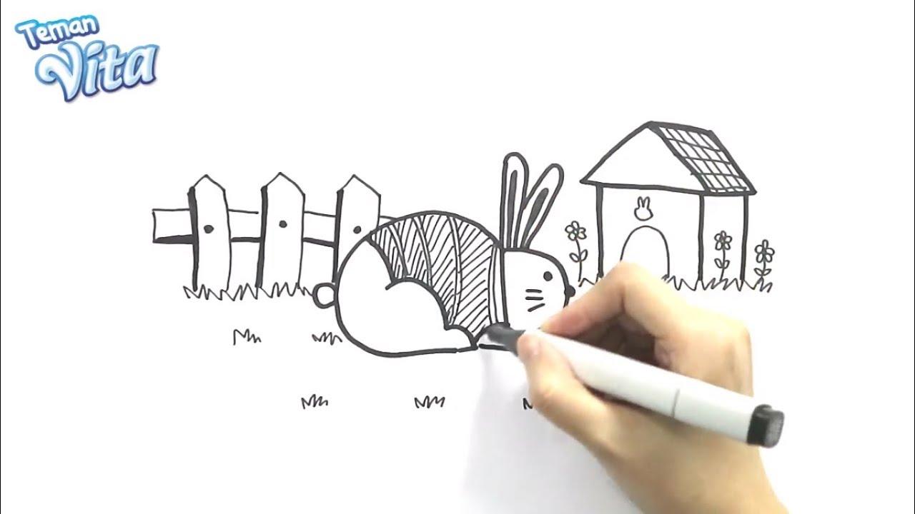 Cara Menggambar Binatang Kelinci Dengan Huruf B VitaArt