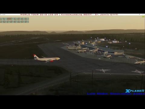 [X-Plane11] VivaColombia VA | A330 | Kangerlussuaq - St. John's | WORLD TOUR 2018 LEG 09 LANDING