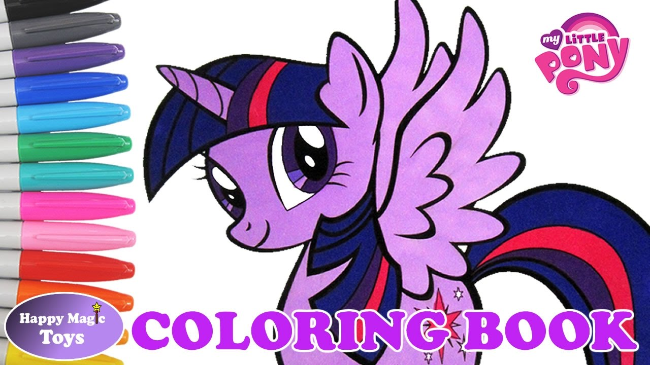 my little pony coloring book princess twilight sparkle happy magic