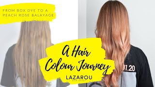 A Hair Colour Journey: From Box Dye to a Peach Rose Balayage | Lazarou Hair Salons Duke Street