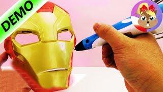 Długopis 3D pomysły dla początkujących | MASKAS IRONMANA zrobiona własnoręcznie | Baw się ze mną