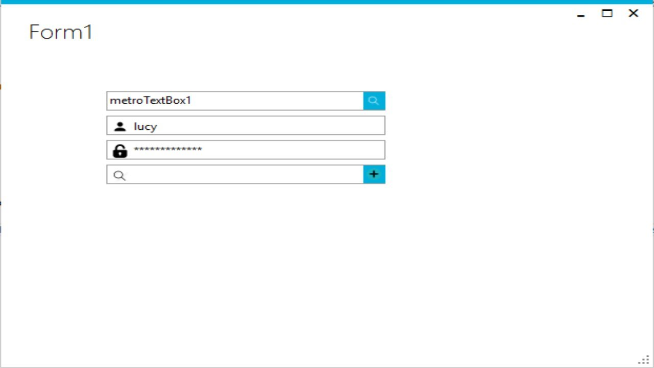 C# Tutorial - Metro TextBox   FoxLearn