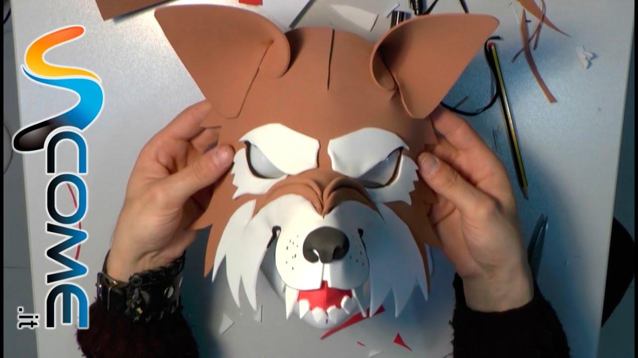 Favoloso Come fare una maschera da lupo - YouTube LF88