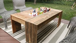 A while back we featured the most amazing outdoor dining table with inset drink holders. The idea was really genius and has been
