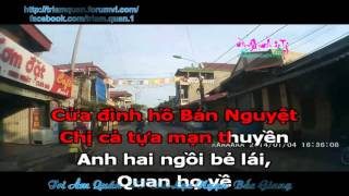 Karaoke: Làng quan họ quê tôi (Trọng Tấn)