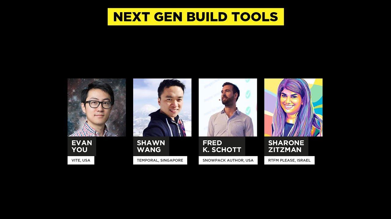 Panel Discussion: Next Gen Build Tools, JSNation Live 2021
