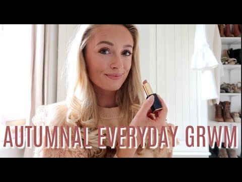 AUTUMNAL GRWM // EVERY DAY MAKEUP AND HAIR ROUTINE // FASHION MUMBLR - 동영상