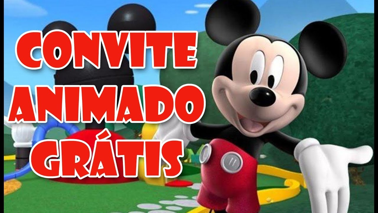 Convite Animado Gratis Mickey Youtube