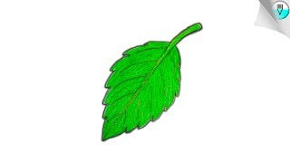 How to draw a leaf || for kids || step by step (very easy)
