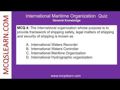 International Maritime Organization Quiz - MCQsLearn Free Videos