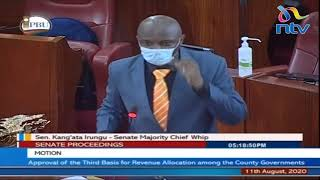If this motion passes today, counties will lose money: Senator Kang'ata