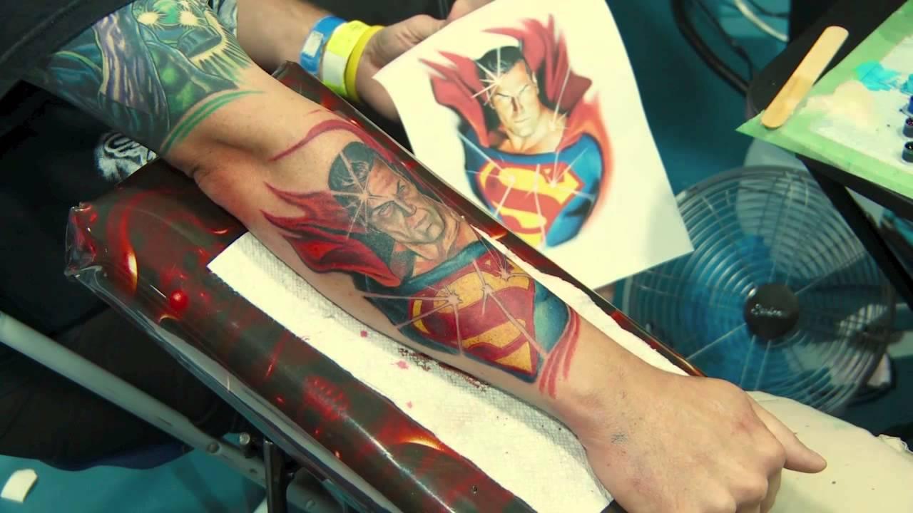 Kirt Silver Time Lapse Superman Tattoo Youtube