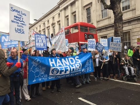 """Fix It Now""! Tens of Thousands March in London To Defend UK National Healthcare Service NHS!"