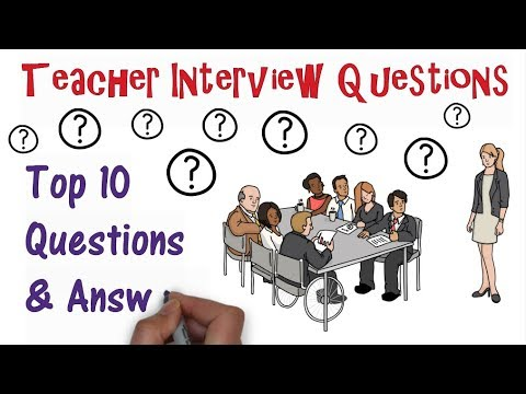 Teacher Interview Questions: Top Ten Q&As