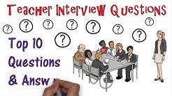 Teacher Interview Questions: Top Ten