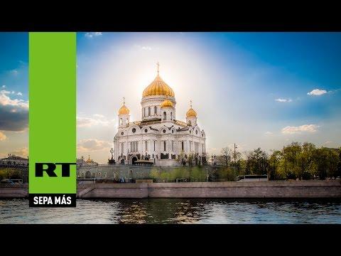 Celebración de la misa de la Pascua ortodoxa desde la principal catedral de Rusia