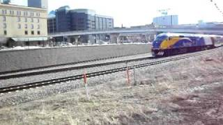 Northstar Commuter train departing Target Field (sound).