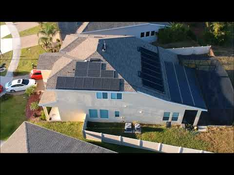 House Tesla Solar panels