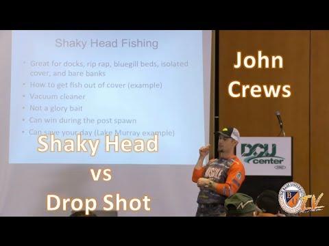 Dropshot vs. Shaky Head w/ JOHN CREWS- Bass Fishing Tips, Tricks, and Techniques