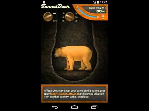 Using TunnelBear on Android