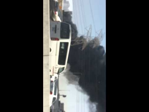 Fire in sharjah industrial area. UAE