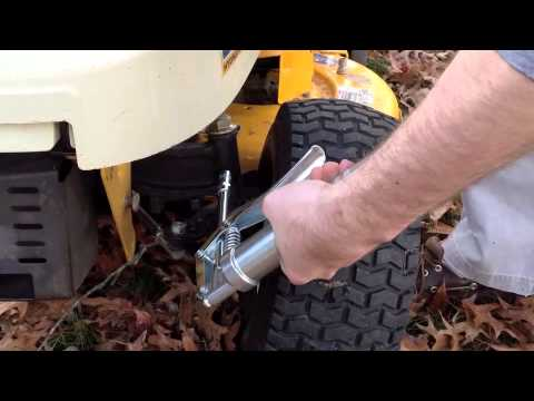 Cub Cadet Lt1045 Deck Diagram Water Cycle Label How To Lubricate A Tractor - Youtube